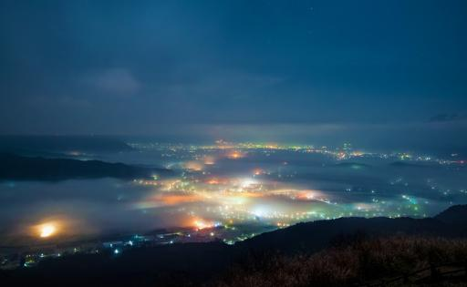カブトイワからの深夜の雲海